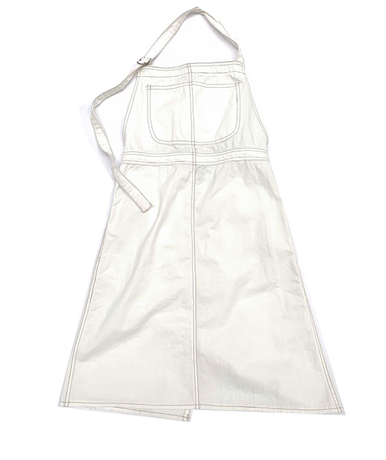 Apron Dress (404) - Offwhite Canvas