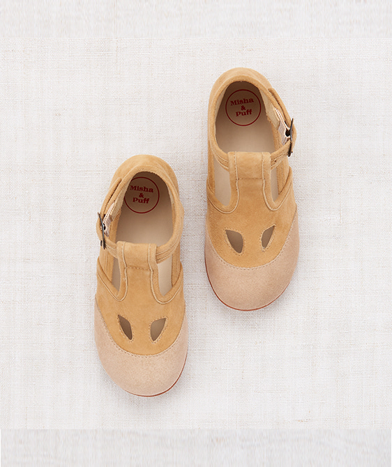 Elmwood T-Strap Shoes - Beige