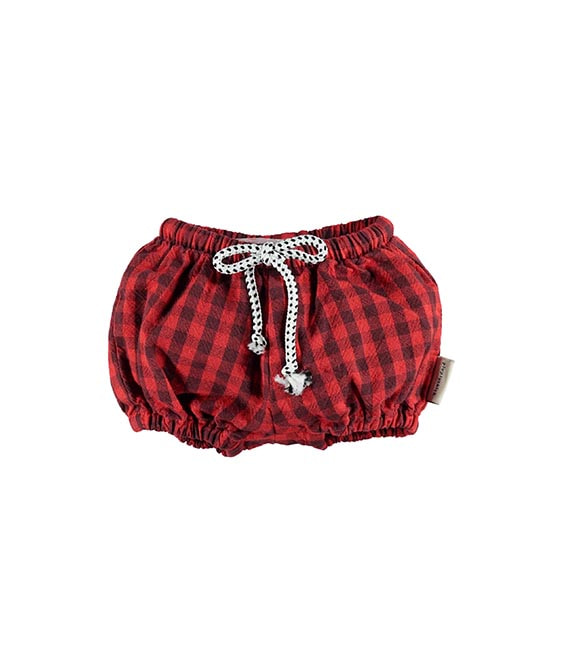 Baby Shorties - Garnet & Grey Checkered