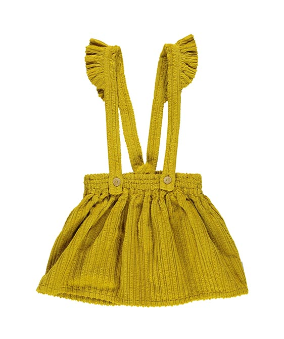 Skirt With Straps - Mustard Corduroy