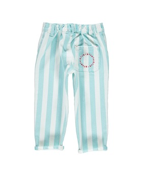 Unisex Trousers - Light Blue Stripes