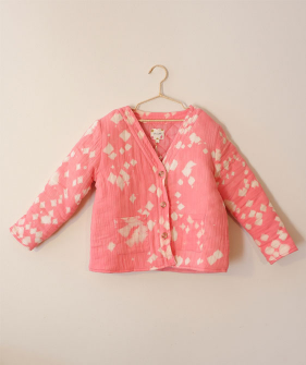Padded Jacket With Garment Dye - Pink ★ONLY 4Y★