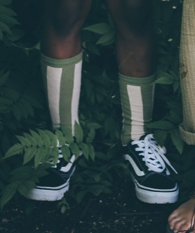 Socks stripe - Tropical green ★ONLY 19/22★