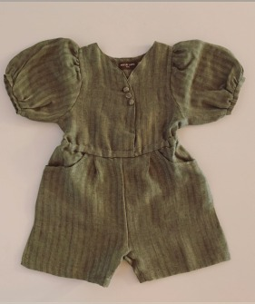 Girl Jumpsuit - Light Green ★ONLY 4-5Y★