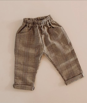 Long Trouser - Navy & Brown check
