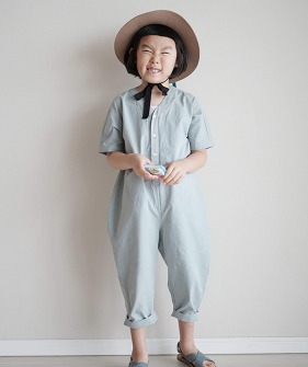 Cotton Jumpsuit - Blue
