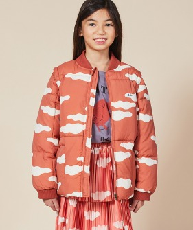 Clouds All Over Padded Jacket #01142 ★ONLY 2-3Y★