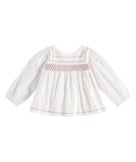 Charlotte Hand Smocked Blouse - Off White