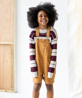 Wide Slouchy Fit Dungaree - Cinnamon