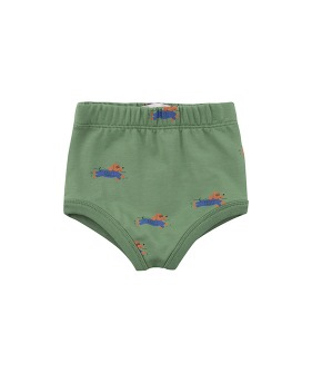 ◆2DROP◆ Doggy Paddle Baby Bloomer - Green/Iris Blue ★ONLY 24M★