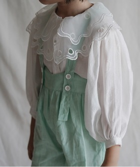 Lace Collar Shirt - White