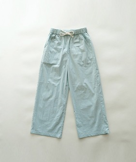 Straight-Leg Pants  - Blue