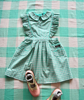 Reina Dress - Mint Check #S21REMCK