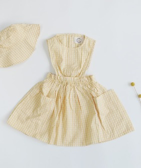 Acacia Spencer Dress - Yellow Check