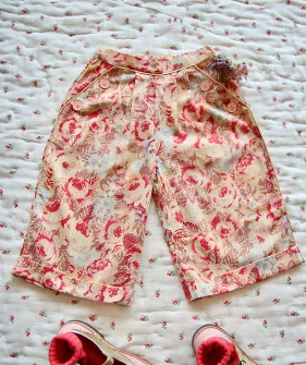 Pants - Faded roses #S21IPTPK ★ONLY 10Y★