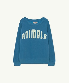 Bear Kids+ Sweatshirt - Blue Animals (F21050)