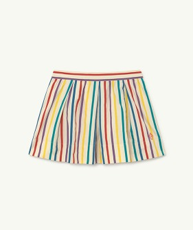 Bird Kids Skirt - White Stripes (F21137)