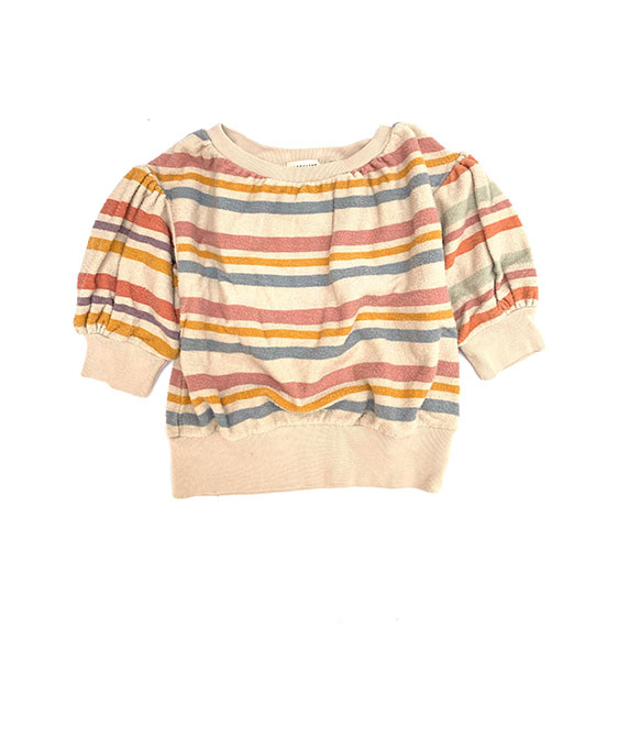 Terry SS Sweater (440) - Stripe