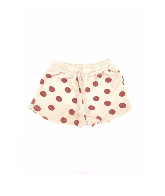 Terry Shorts (444) - Brown Dots